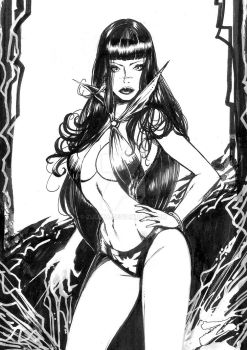 Vampirella as Seffana by Zuleta