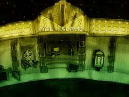 A Rainy Day at the Palace Theatre by 2d-Matty