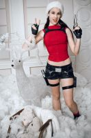 Christmas Lara Croft - madness! by TanyaCroft