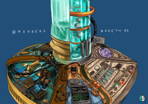 Doctor Who tardis console by 35THESTRANGE