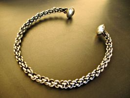 Woven Torc with Button Finials by ou8nrtist2