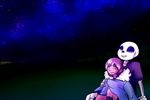 UT | Sans and Frisk | his sky by MissAlmighty