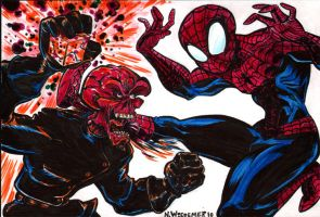 Spidey Vs. the Red Skull by sosnw