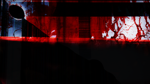 Blood-filled screen wallpaper 1366 x 768 by CinderSpark9