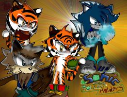 Sonic and the power holders:fighting characters by FANTASY-WORKS-JMBD