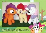 My Little Pony Cutie Mark Crusaders Plushies by GraphicPlanetDesign