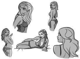 Kate Upton Drawing Attempts by TheCosbinator