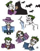 Joker Sketch Dump by BlitheFool