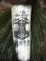 Odin's Son Drinking Horn by UrnesAshTree