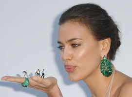 Irina Shayk blow by lowerrider