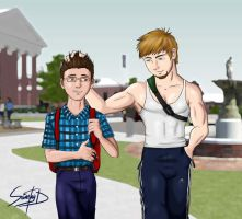 Ernesto and Cristian by Saintag