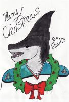 This Shark says Merry Christmas - colored by CLPennelly