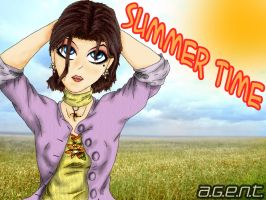 Summer wallpaper of Audrey by Em-E-chan