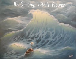 Be Strong Little Flower..oil on canvas..36x36 inch by ChristopherPollari