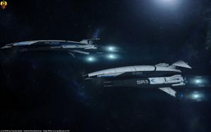 Normandy class Frigates by Euderion