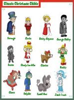 Classic Christmas Chibis by TRALLT