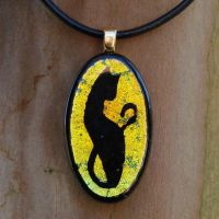 Custom Cat Fused Glass by FusedElegance