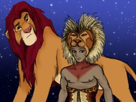 June 29-Lion King, dual Simbas by Emptygoldeyes