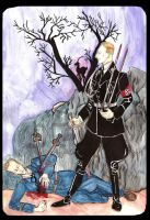Heydrich tarot: Five Swords by hello-heydi