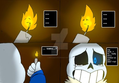 Saving Grillby 2 by zeroa5raven