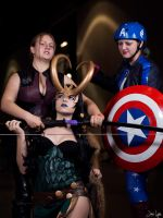 Lady Loki: Caught by Hawkeye and Captain America by SNTP
