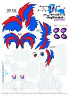 Slovakian flag pony papercraft by ThatInsaneAlicorn