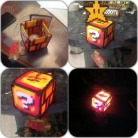 Mario block lamp by Denial-of-a-Failure