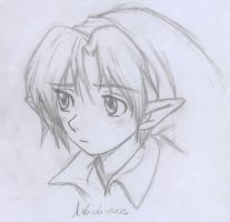 Young Link Sketch by SerKai