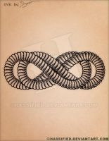 Infinity Times Infinity Rope Tattoo by hassified