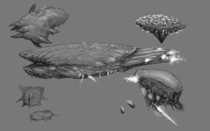 space creature sketches by semiconductor