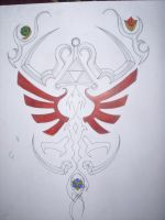 Zelda Tattoo Draft 1 by link1010