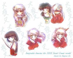 some old Inuyasha SD fancies by EugeneCh