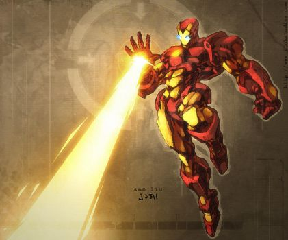 Sam Liu Iron Man by dcjosh