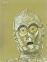C3PO head - On gold carton by TolZsolt