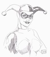 Harley Quinn Sketch by Forty-Fathoms