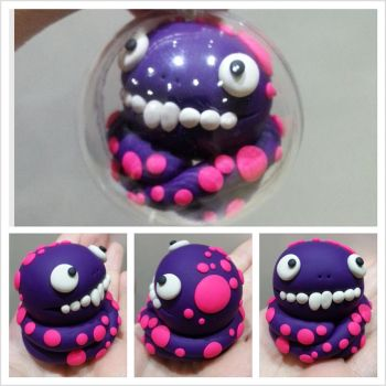 Purple Monster Bauble by kirstipoo