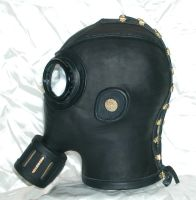 Steampunk gasmask 2 left by GriffinLeather