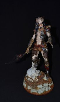 Female with spear by Harkon72