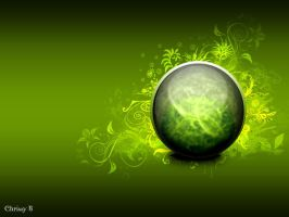 Green orb Wallpaper by MissWhatsHerFace