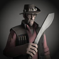 Sniper Portrait Pale - Team Fortress 2 by DieKeksRebellion