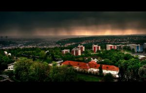 Stormy Prague by MishaART