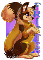 Fritter badge by Amathaze