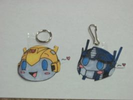 Optimus Prime And Bumblebee Keychains by bigtimetransfan27