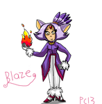 Blaze the human by Pokechan13