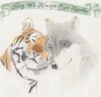 Tiger and Wolf Love by spaz4always