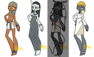 Ancient Egyptian Gods Adopts: CLOSED by lesbian-mermaid