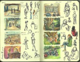 12 Moleskine Sketchbook by ange-of-the-top-hat