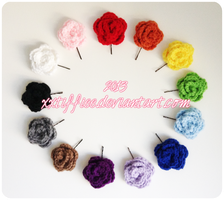 Rose Hair Pins by xxtiffiee