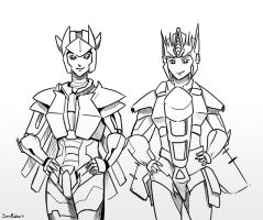 Thunderdome and Sapphirius by SoulRobot