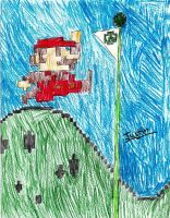 Justin- Mario jumping by SonicXfan007